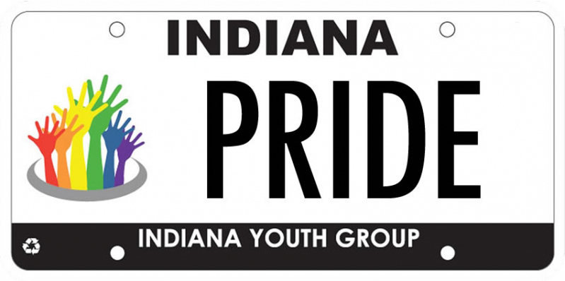 Indiana Youth Group License Plate